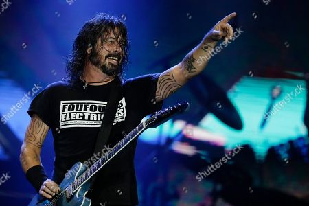 Dave Grohl of the band Foo Fighters performs at the Rock in Rio music festival in Rio de Janeiro, Brazil