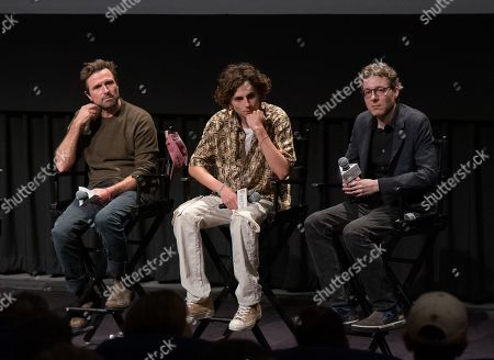 David Michod, Timothee Chalamet and Nicholas Britell