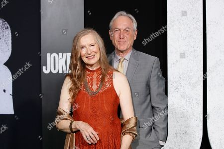 Frances Conroy and her husband actor Jan Munroe arrives for the premiere of Joker at the TCL Chinese Theatre IMAX in Hollywood, Los Angeles, USA, 28 September 2019.