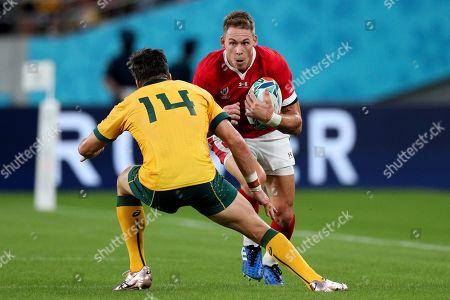 Australia vs Wales. Liam Williams of Wales with Australia's Adam Ashley-Cooper
