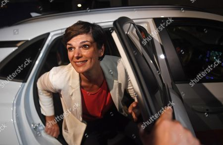 Pamela Rendi-Wagner, leader of Austrian Social Democratic Party (SPOe) and SPOe top candidate, arrives for the TV discussion on the Austrian federal elections in Vienna, Austria, 29 September 2019. Projections published after the polls closed saw the OeVP as the clear winner of the general election.
