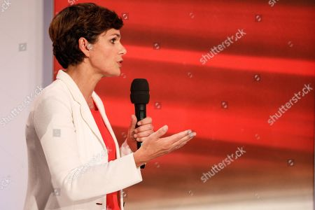 Pamela Rendi-Wagner, leader of Austrian Social Democratic Party (SPOe) and SPOe top candidate, attends a TV discussion on the Austrian federal elections in Vienna, Austria, 29 September 2019.