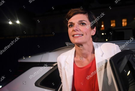 Pamela Rendi-Wagner, leader of Austrian Social Democratic Party (SPOe) and SPOe top candidate, arrives for the TV discussion on the Austrian federal elections in Vienna, Austria, 29 September 2019.