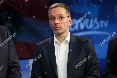 Herbert Kickl of the right-wing Austrian Freedom Party (FPOe) attends a TV discussion on the Austrian federal elections in Vienna, Austria, 29 September 2019.