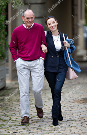 British author, newspaper columnist and editor, Sir Simon Jenkins and his wife Hannah Kaye