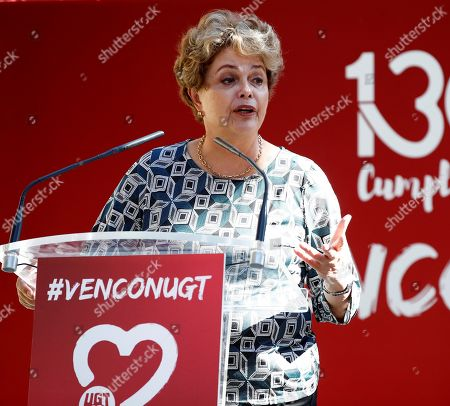 Stock Picture of Former Brazilian president Dilma Rousseff speaks during an event in support of imprisoned former Brazilian president Luiz Inacio Lula da Silva, in Madrid, Spain, 29 September 2019. Lula da Silva is currently serving an eight year and ten month sentence for corruption.
