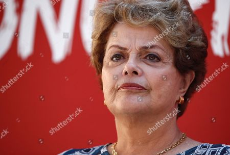 Former Brazilian president Dilma Rousseff attends an event in support of imprisoned former Brazilian president Luiz Inacio Lula da Silva, in Madrid, Spain, 29 September 2019. Lula da Silva is currently serving an eight year and ten month sentence for corruption.