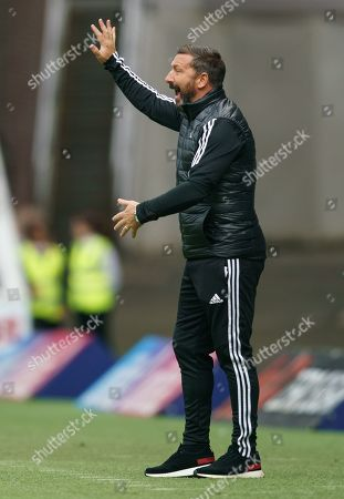Aberdeen Manager Derek McInnes during the Ladbrokes Scottish Premiership match between Rangers & Aberdeen at Ibrox Stadium, Glasgow on 28 Sept 2019.