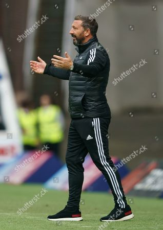 Stock Picture of Aberdeen Manager Derek McInnes during the Ladbrokes Scottish Premiership match between Rangers & Aberdeen at Ibrox Stadium, Glasgow on 28 Sept 2019.