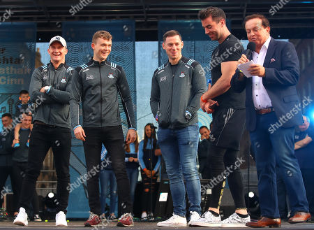 Ciaran Kilkenny, David Byrne, Philly McMahon, Michael Darragh Macauley and Marty Morrissey up on stage