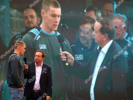 Con O'Callaghan being interviewed by Marty Morrissey