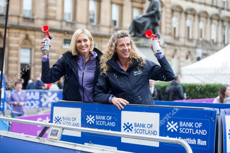 Jenni Falconer and Sally Gunnell