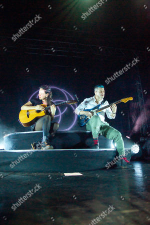 Editorial photo of Rodrigo y Gabriela in concert at the 02 Academy, Leeds, UK - 28 Sep 2019