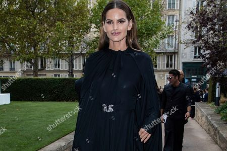 Izabel Goulart attends the Valentino Ready To Wear Spring-Summer 2020 collection, unveiled during the fashion week, in Paris