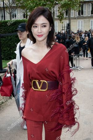 Stock Picture of Qin Lan attends the Valentino Ready To Wear Spring-Summer 2020 collection, unveiled during the fashion week, in Paris