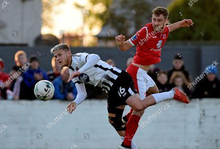 Sligo Rovers vs Dundalk. Dundalk's Sean Murray and Lewis Banks of Sligo