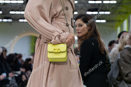 Stock Picture of A model presents a creation by Italian designer Pierpaolo Piccioli for Valentino during the Paris Fashion Week, in Paris, France, 29 September 2019. The presentation of the Spring/Summer 2020 collections runs from 23 September to 01 October 2019.