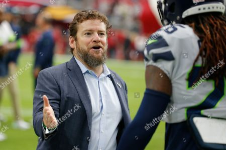 Seattle Seahawks general manager John Schneider during an NFL football game against the Arizona Cardinals, in Glendale, Ariz