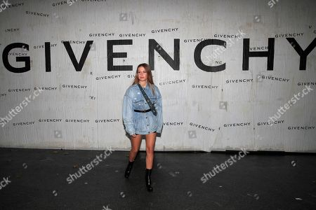 Actress Adele Exarchopoulos attends the Givenchy Ready To Wear Spring-Summer 2020 collection, unveiled during the fashion week, in Paris