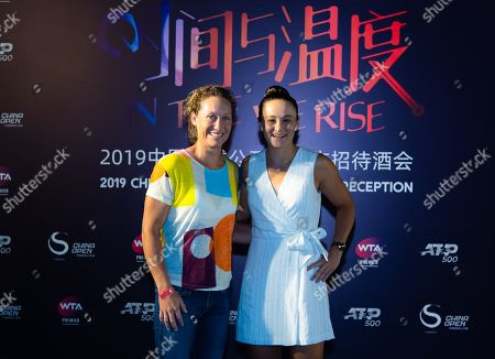 Samantha Stosur and Ashleigh Barty of Australia