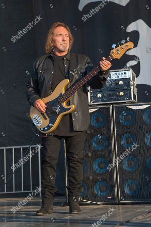Geezer Butler of Deadland Ritual performs during Louder Than Life at Highland Festival Grounds at KY Expo Center, in Louisville, Ky