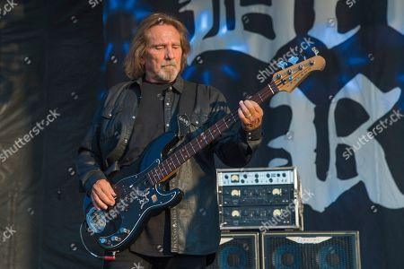 Stock Picture of Geezer Butler of Deadland Ritual performs during Louder Than Life at Highland Festival Grounds at KY Expo Center, in Louisville, Ky