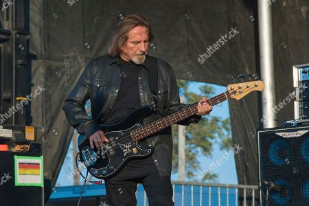 Stock Image of Geezer Butler of Deadland Ritual performs during Louder Than Life at Highland Festival Grounds at KY Expo Center, in Louisville, Ky