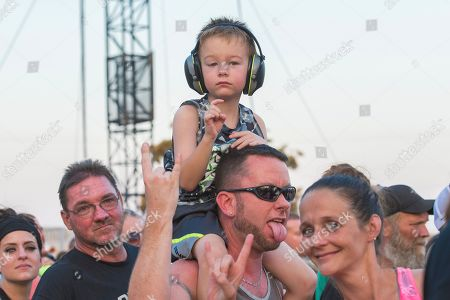Benjamin Burnley. Festival goers seen as Breaking Benjamin performs during Louder Than Life at Highland Festival Grounds at KY Expo Center, in Louisville, Ky