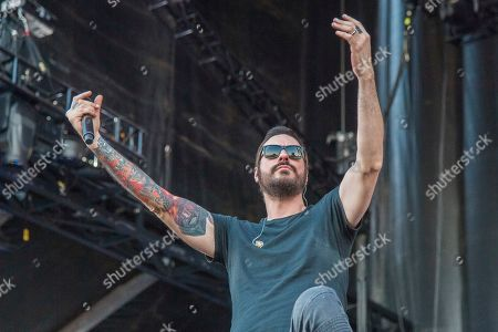 Benjamin Burnley of Breaking Benjamin performs during Louder Than Life at Highland Festival Grounds at KY Expo Center, in Louisville, Ky