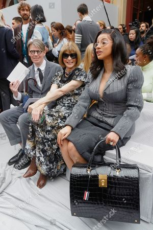 Andrew Bolton, Anna Wintour and Cardi B in the front row