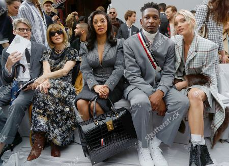 Stock Image of Andrew Bolton, Anna Wintour, Cardi B, Kollin Carter and Elsa Hosk in the front row
