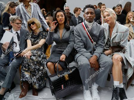 Editorial image of Thom Browne show, Front Row, Spring Summer 2020, Paris Fashion Week, France - 29 Sep 2019
