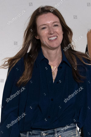 British designer Clare Waight Keller takes part to the audience after her show for Givenchy label brand for the Spring/Summer 2020 Ready to Wear collection during the Paris Fashion Week, in Paris, France, 29 September 2019. The presentation of the Women's Spring/Summer 2020 collections runs from 23 September to 01 October 2019.