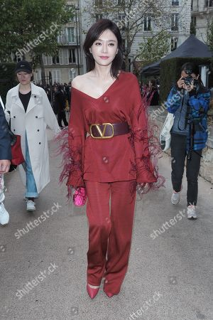 Editorial picture of Valentino show, Front Row, Spring Summer 2020, Paris Fashion Week, France - 29 Sep 2019