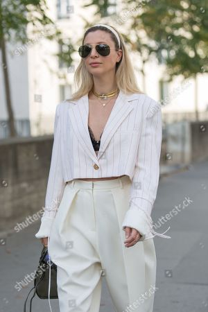Editorial picture of Street Style, Spring Summer 2020, Paris Fashion Week, France - 28 Sep 2019