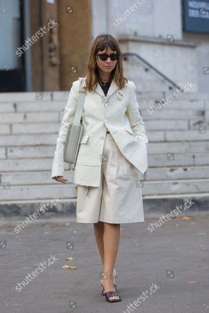 Editorial image of Street Style, Spring Summer 2020, Paris Fashion Week, France - 28 Sep 2019