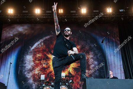 Benjamin Burnley of Breaking Benjamin performs during Louder Than Life at Highland Festival Grounds at Kentucky Exposition Center, in Louisville, Ky