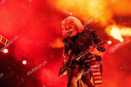 John 5 performs with Rob Zombie during Louder Than Life at Highland Festival Grounds at the Kentucky Exposition Center, in Louisville, Ky