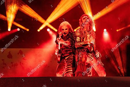 Rob Zombie, John 5. John 5, left, performs with Rob Zombie during Louder Than Life at Highland Festival Grounds at the Kentucky Exposition Center, in Louisville, Ky