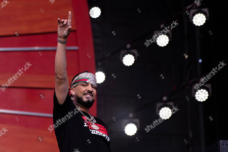 Stock Image of French Montana performs at the 2019 Global Citizen Festival in Central Park, in New York