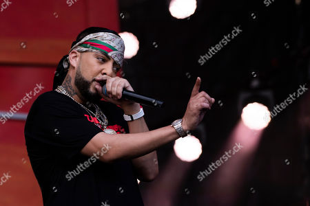 French Montana performs at the 2019 Global Citizen Festival in Central Park, in New York
