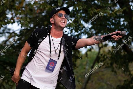 Stock Picture of Ryan Tedder from the band OneRepublic performs at the 2019 Global Citizen Festival in Central Park, in New York