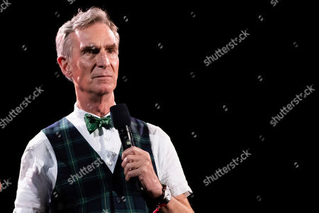 Bill Nye speaks at the 2019 Global Citizen Festival in Central Park, in New York