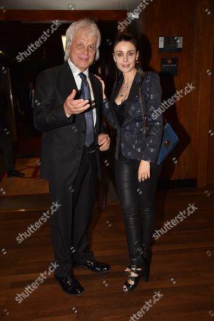 Stock Picture of Michele Placido and Federica Vincenti