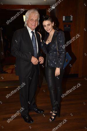 Stock Photo of Michele Placido and Federica Vincenti