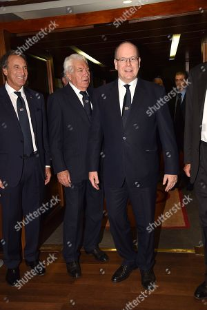 Stock Picture of Nicola Pietrangeli and Prince Rainier