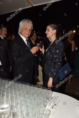 Michele Placido and Federica Vincenti