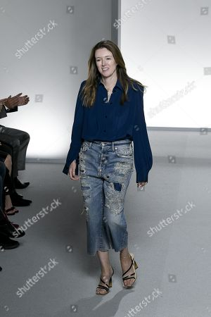 Stock Image of Clare Waight Keller on the catwalk