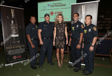 Actress and Activist AnnaLynne McCord and Los Angeles Fire Station 27 at the Exitus Wine benefit for the California Fire Foundation at the Montalban Theater in Hollywood
