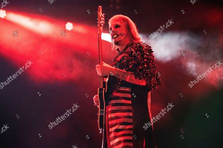 John 5 performs with Rob Zombie during Louder Than Life at Highland Festival Grounds at Kentucky Exposition Center Center, in Louisville, Ky